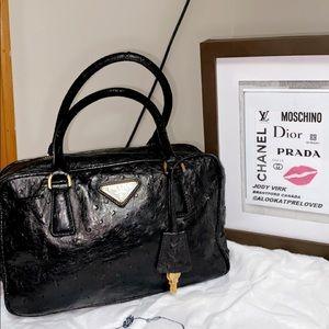 Prada bag in ostrich skin